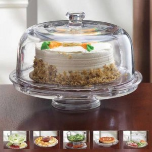 6-in 1 Acrylic Cake Plate & Serving Dish