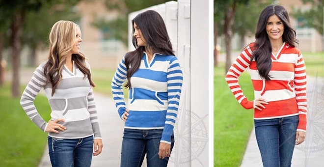 Hooded Striped Sweaters