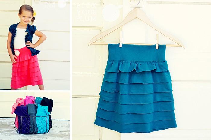 Kids ruffle skirt