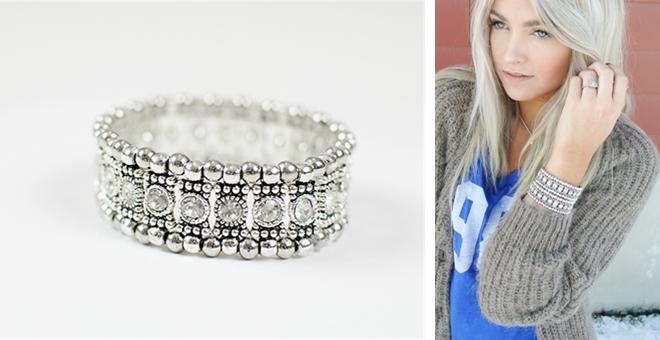 Nordstrom Inspired Crystal Rhinestone STretch Bracelet