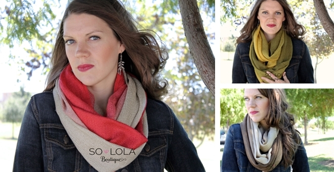 Ombree Knit Infinity Scarves