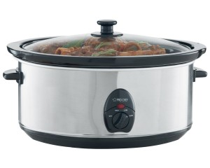 Pro Chef PC710 7-Quart Oval Slow Cooker, Stainless Steel