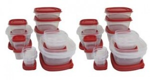 Set of 2 Rubbermaid Easy-Find 28-Piece Food Storage Containers