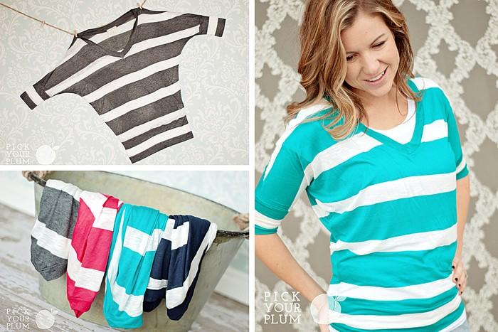 Striped Dolman Shirts