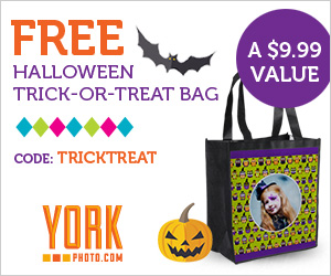 York free trick or treat bag FREE Customized Trick or Treat Bag from York Photo! Just Pay $3.99 Shipping!
