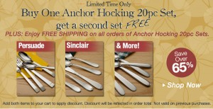 anchor hocking flatware deal