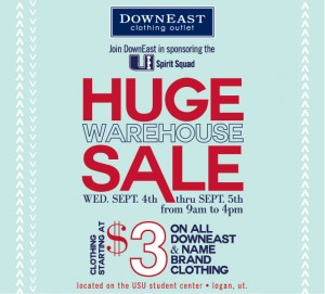 downeast warehouse sale logan