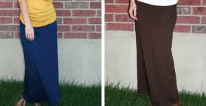 fall color solid maxi