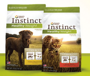 free natures variety instinct healthy weight kibble pet food sample