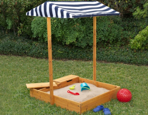 kidkraft sandbox with cover and canopy
