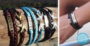layered symbolic bracelets