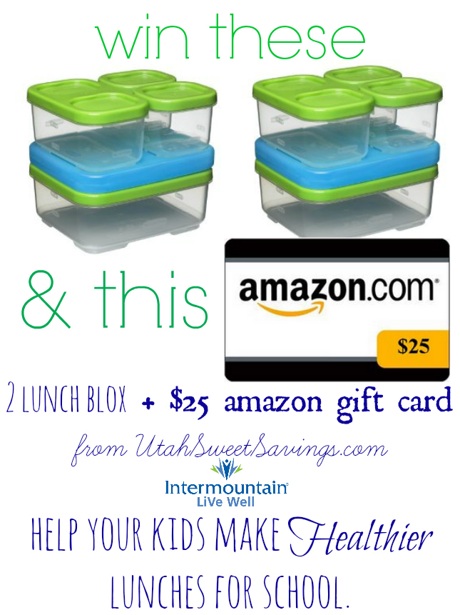 lunchblox and amazon giveaway Giveaway:  $25 Amazon Gift Card and LunchBlox Prize Pack