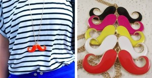 mustache necklaces