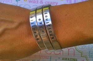 personalized stamped bracelets