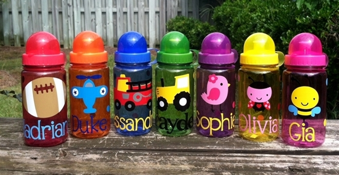 Personalized Colorful Water Bottles For Kids For 6 49 Great