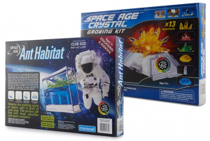 space age ant habitat and crystal growing kits