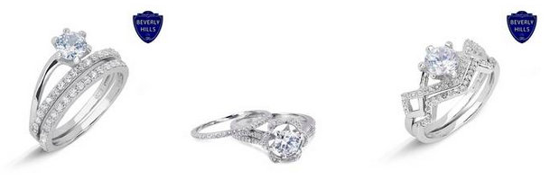 sterling silver simulated diamond rings