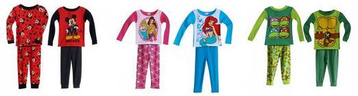 toddler 4 piece pajama sets