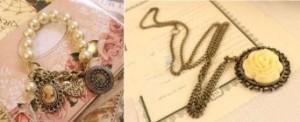 vintage rose necklace and charm bracelet set 300x122 Vintage Rose Necklace and Charm Bracelet Set for $1.59 Shipped!