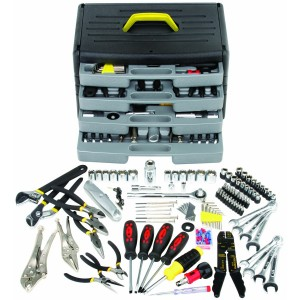 105 piece tool kit with 4 drawer chest 300x300 Harbor Freight Tools: Save 79%! 105 Pc Tool Kit w/ 4 Drawer Chest for $36.99 + MORE!