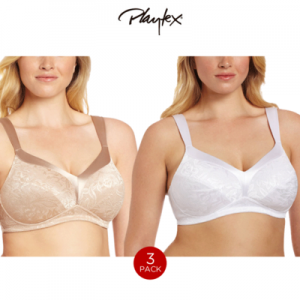 3-Pack Playtex 18 Hour Gel Comfort Full Support Wire Free Bras