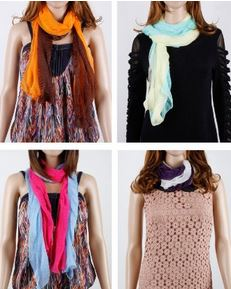 8 pack fashion scarves Fashion Scarves 8 Pack for $10.99 ($1.37 Each)!