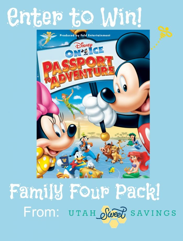 Disney on Ice Giveaway November Giveaway:  Disney on Ice Family 4 Pack!