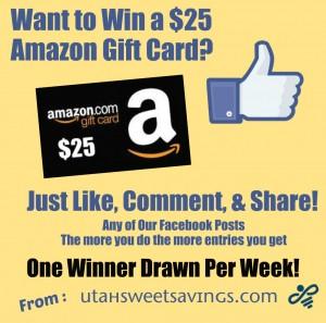 Facebook Amazon Giveaway $25