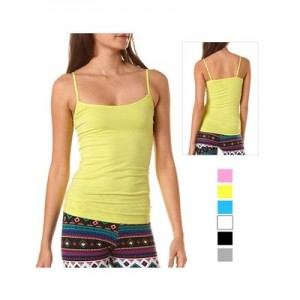 Ladies Lycra 8 Pack Long Camisoles