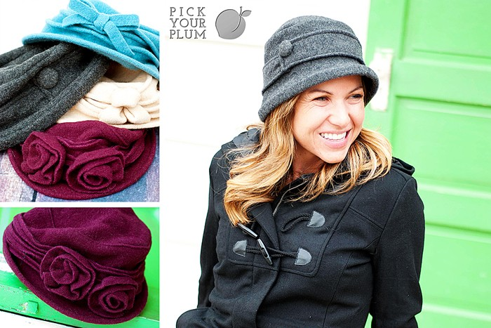 Pick Your Plum Wool Hats