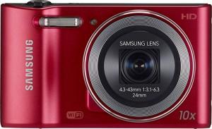 Samsung - WB30F 16.2-Megapixel Digital Camera - Red