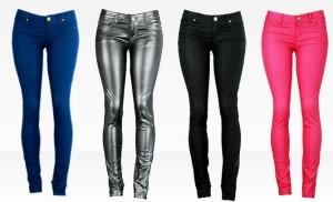 VIP Jeans Coated or Metallic Skinny Jeans