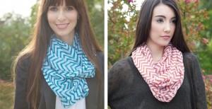 chevron infinity scarves
