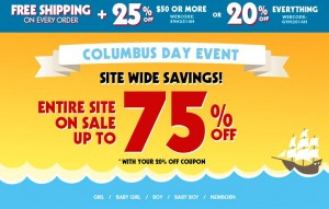 childrens place columbus day sale