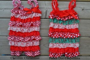 christmas ruffle rompers