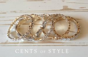 clear bracelet set