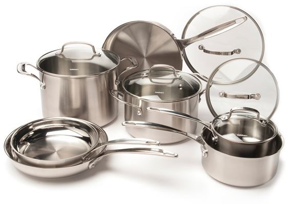 cuisinart classic stainless 12 piece cookweare set