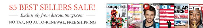 discount mags best seller sale
