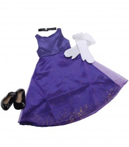 formal purple doll dress