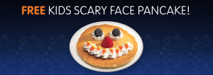 free scary pancake at ihop