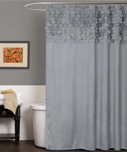 gray lillian shower curtain