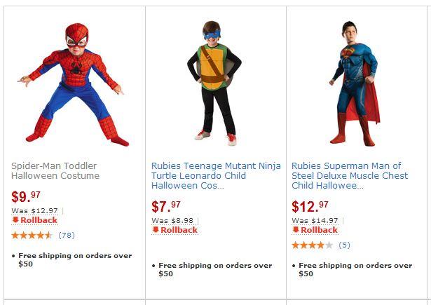 halloween costumes rollback walmart