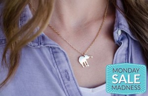 mini elephant charm necklace