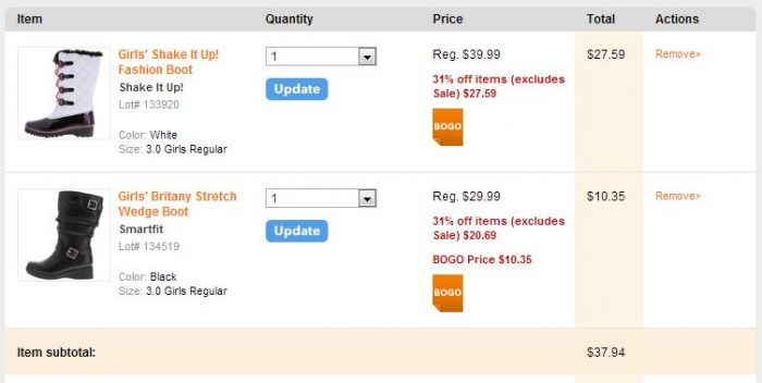 payless shoesource example