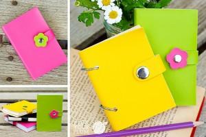 pleather notebooks
