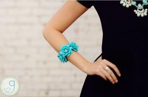 rosette bracelet turquoise