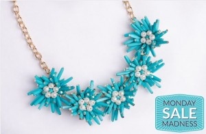 starburst statement necklace