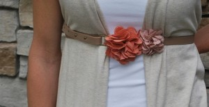 vintage flower belts