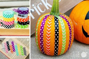 washi tape pumpkin idea