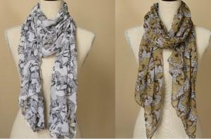 zebra chiffon scarf